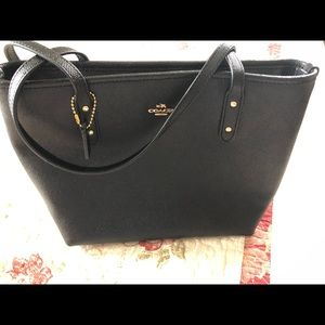 Coach Bags - Brand new black coach purse with two straps.
